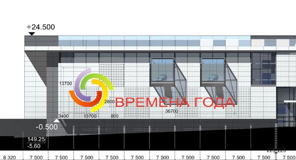Дизайн фасада торгового центра